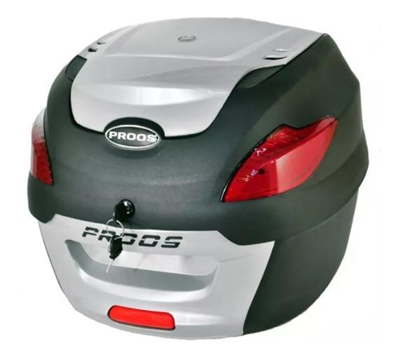 Bauleto Bau Moto Para Bagageiro 41 Litros Proos - Prata