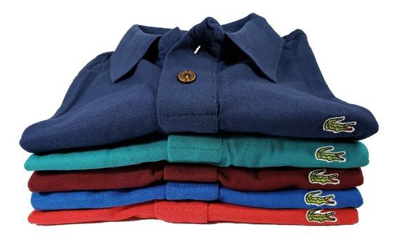 Promocao Kit 5 Camisa Polo Extra Grande G1 G2 G3 G4 + Brinde