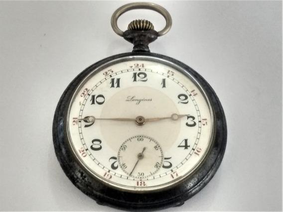 Relógio Raro Bolso Longines 1849 C/ Protetor Máquina Carbono