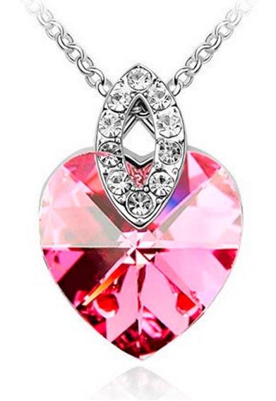 Genial Regalo Collar Corazón Ángel Amor Swarovski Element