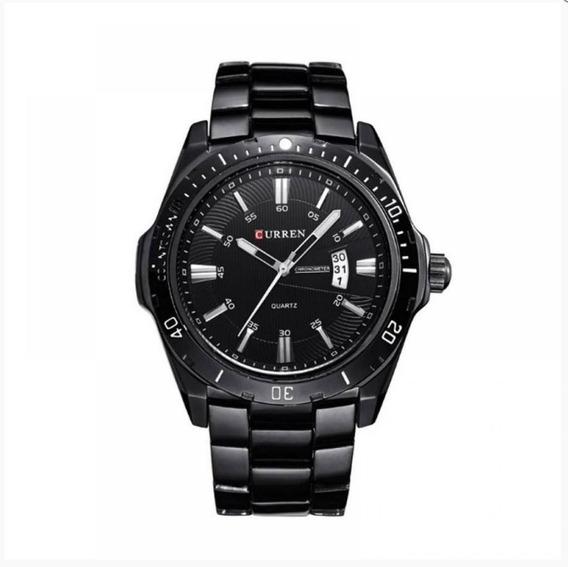 Relógio Masculino Curren Analógico - Preto