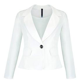 Saco 14539 Blazer Blanco Moda Mexicana Rinna Prim9