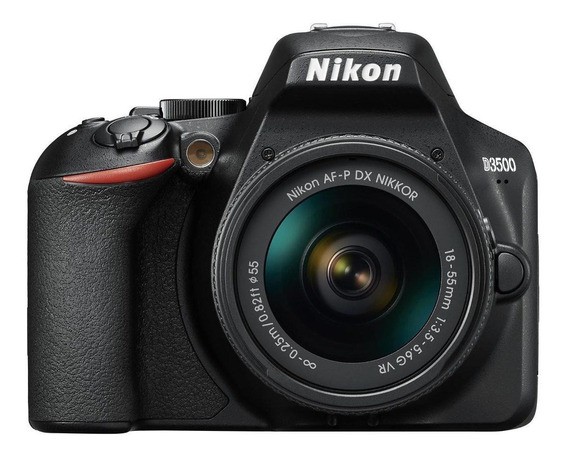 Nikon D3500 18-55mm VR Kit DSLR color negro