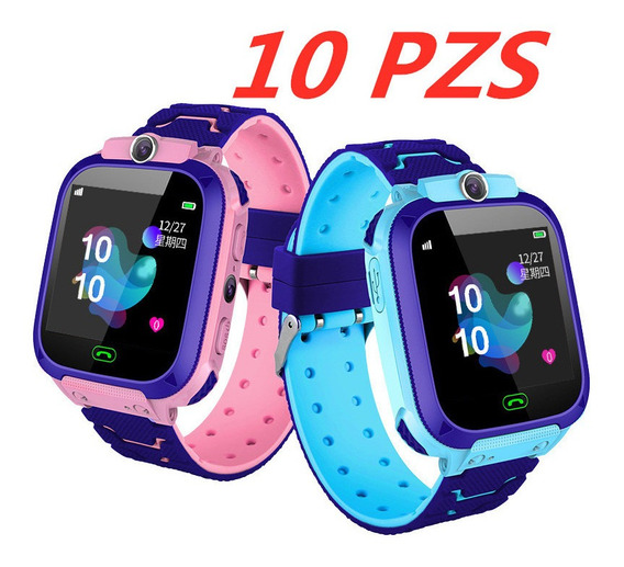 Reloj Inteligente Para Niños Con Gps Teléfono Cámara 10 Pzas