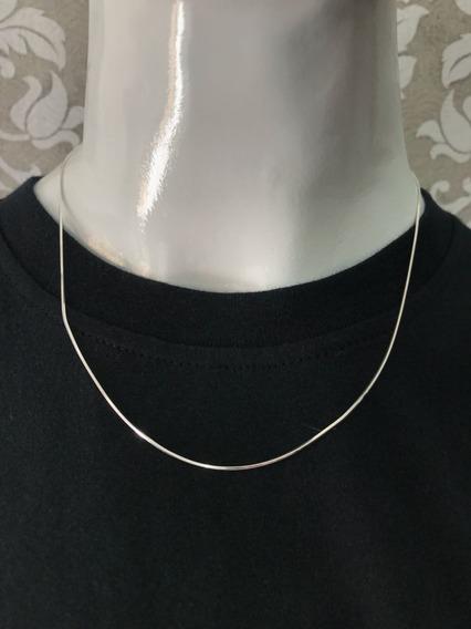 Cordão Veneziano Feminino Em Prata 45cm