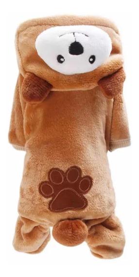 Roupa Cachorro E Gato Inverno Ursinho Pet Até 4kg + Brinde
