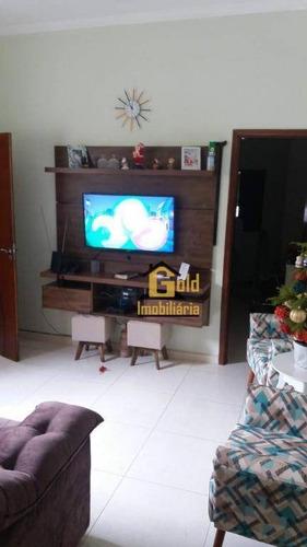 Casa Com 2 Dormitórios À Venda, 61 M² Por R$ 283.550 - Campos Elíseos - Ribeirão Preto/sp - Ca0587