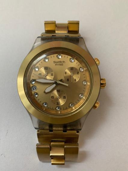 Relogio Swatch Dourado