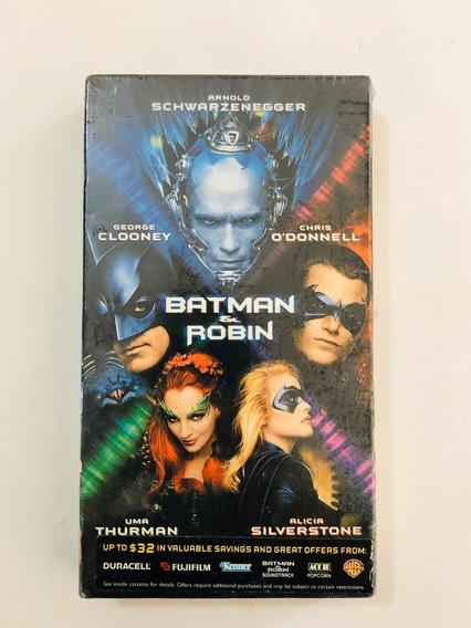 Fita Antiga Vhs Batman E Robin Lacrada