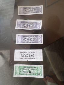 Lote Com 5 Unidades Selo Fiscal Lacre Preço Classe Cigarro