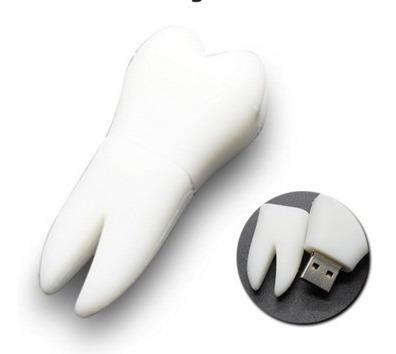 32 Gb Pen Drive Dente Pendrive Dentista Usb Emborrachado