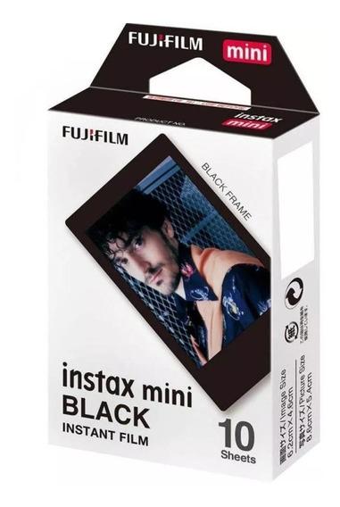 Papel Para Fotos Fujifilm Instax Mini Black 10 Unidades