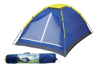 Barraca 4 Pessoas P/ Camping Iglu Mor - 2.10x2.10x1.30mt.