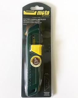 Cutter Retractil De Aluminio Mota C110 18 Mm Trincheta