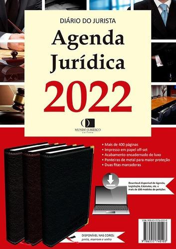Imagem 1 de 4 de Agenda Jurídica 2022 Cor Vinho + Agenda Eletrônica 2022