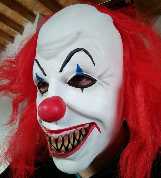 Máscara Payaso Malo It Látex Cotillon Disfraz Halloween