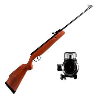 Sniper: Carabina De Pressão Cbc Cal. 5.5 + Red Dot Cbc 1x30