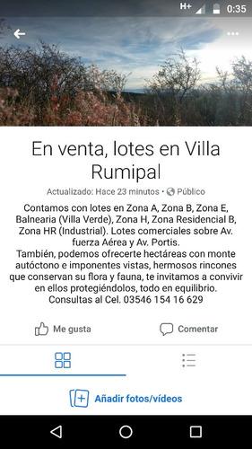 Lotes Villa Rumipal