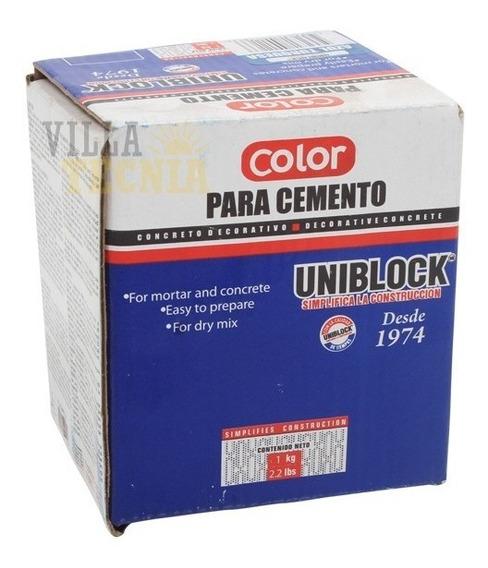 Color Para Cemento Azul Turquesa Pigmento 1kg Pigmento