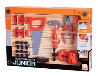 Ferramenta Junior Completa Kit Infantil Serrote Martelo