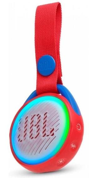Caixa De Som Jbl Pop Jr Vermelho 3rms Bluetooth Prova D