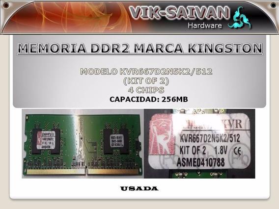 Memoria Ddr2 Kingston De 256mb Pc2-5300 667mhz 4 Chips 6