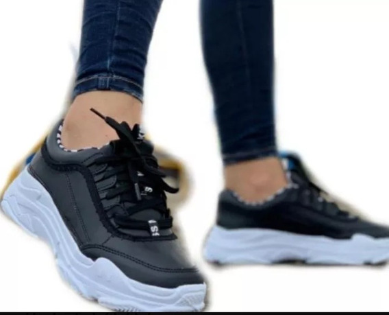 Tenis Estilo Tractor Calzado Para Mujer Promoción Oferta