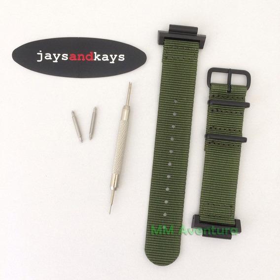 Pulseira Nylon Nato Zulu 2pc 22mm Jaysandkays P/ Gshok Ga100