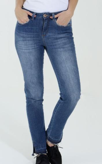 Calça Feminina Jeans Skinny Com Fendas Rf.d821!nova