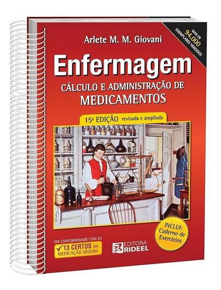 Livro Enfermagem Cálculo E Administração De Medicamentos