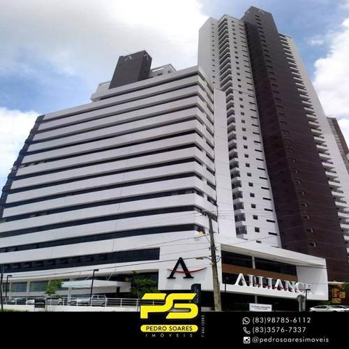 Apartamento Com 3 Dormitórios À Venda, 157 M² Por R$ 1.050.000,00 - Altiplano Cabo Branco - João Pessoa/pb - Ap3818