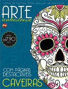 Livro De Colorir Antiestresse - Caveiras