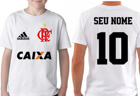 Camiseta Blusa Infantil Personalizada Seu Nome Time Flamengo
