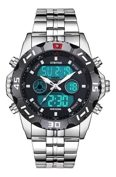 Relógio Masculino Stryve 8011 Digital E Analógico