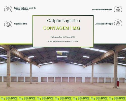 Imagem 1 de 20 de Galpão Logístico 7.000 M² Com Docas Próximo Ao Ceasa - Contagem / Mg - Ga1259