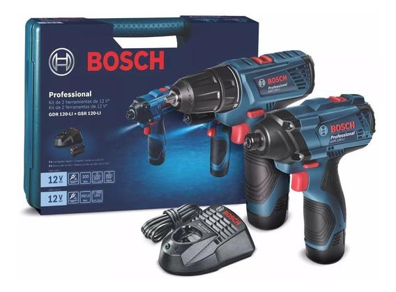 Kit Llave De Impacto Gdr 120-li Taladro Gsr 120-li Bosch