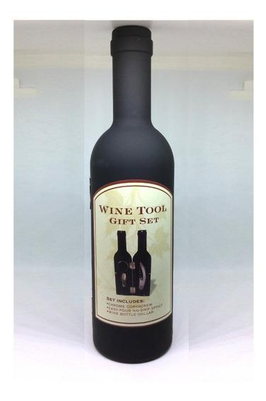 Set Destapador Botella De Vino Saca Corchos Elegante Regalo