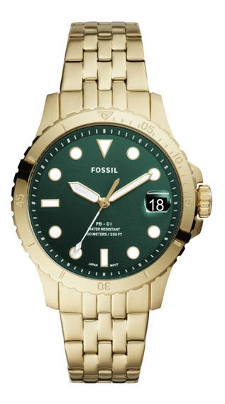 Reloj De Pulso Dama Fb - 01 Fossil Es4746 Color Dorado