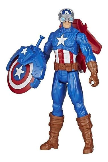 Capitan America Muñeco Avengers Blast Gear 30cm Hasbro E7374