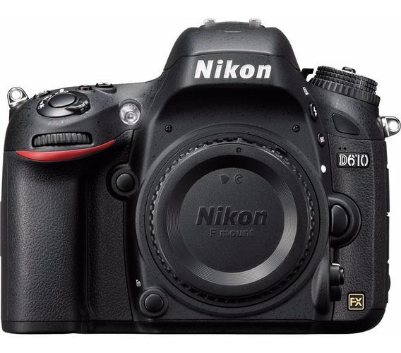 Corpo Nikon D610 24,3 Mp Fx Garantia De 2 Anos