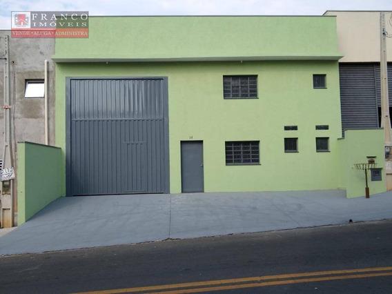 Barracão Para Alugar, 250 M² Por R$ 4.000,00/mês - Loteamento Nova Espírito Santo - Valinhos/sp - Ba0057