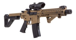Rifle Crosman Dpms Sbr Full Auto Red Dot Sig Co2 Fde .177