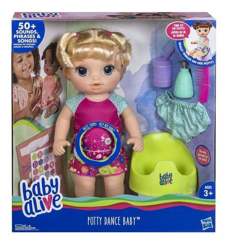 Imagen 1 de 4 de Baby Alive Muñeca Bebé Va Al Baño Rubia