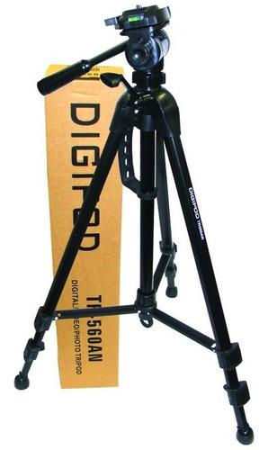 Imagem 1 de 4 de Tripe DigiPod Tr 580 1.80mts Camera Filmadora Case Gratis