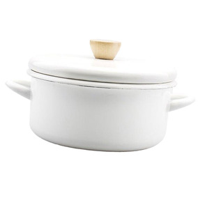 Esmalte Stockpot Antiaderente Estoque Pote Com Tampa Cozinha