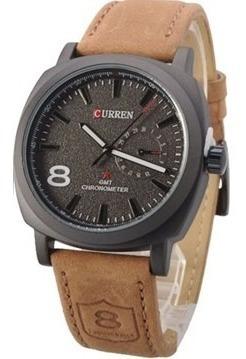 Relógio Masculino Esporte Fino Curren M8139 Pulseira De Couro Oferta