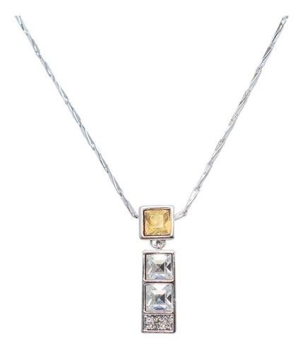 Collar Moda Hecho Con Cristales Swarovski-regalo Joyas Mujer