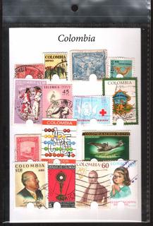 Estampillas De Colombia - Paquete De 25 Diferentes