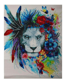 Diamond Painting 5d Arte Pintura Diamante Lion Redlemon