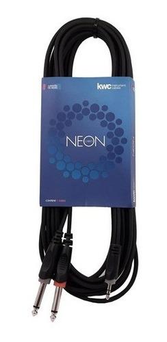 Imagen 1 de 6 de Cable Kwc 9003 Mini Plug 3.5 Estereo A 2 Plug 6.5 Mono 1.5 M